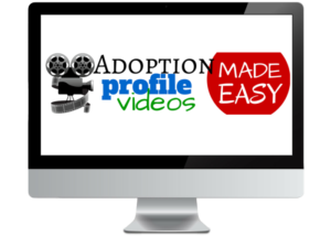 AdoptionProfileVideosMadeEasyLOGO on a computer screen 700x500 with transparent bkgnd