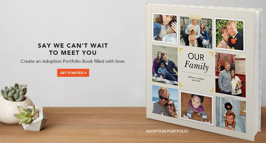 your adoption profile can now be created on shutterfly infant